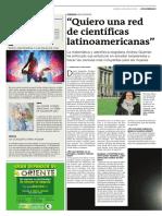 """""""Quiero una red de científicas latinoamericanas"""""""