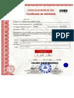 Certificado de Habilitación 342443