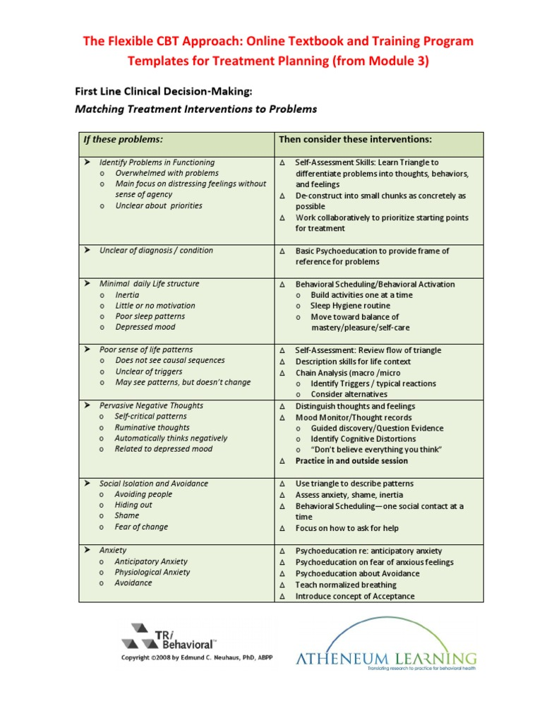 Treatment-Plan-Templates | Generalized Anxiety Disorder ...