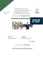 Rol del psicólogo en las organizaciones laborales (ENSAYO)