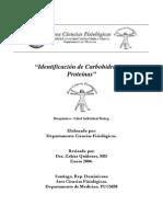 Identificacion de carbohidratos y proteinas