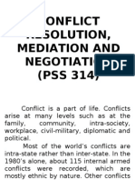 PSS 314 Conflict Resolution
