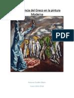 La Influencia Del Greco en La Pintura Mo