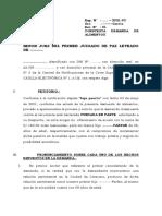 ESCRITO DE CONTESTACIÓN DE DEMANDA DE ALIMENTOS
