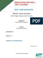 Actividad 1 Automatización