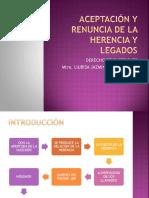 ACEPTACIÓN Y RENUNCIA DE LA HERENCIA Y LEGADOS