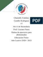 Rutina de abdominales - Chantally Castillo