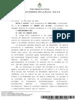 Amparo Camara Federal de Apelacioens de La Plata
