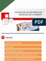 PPT Gestion de la Recursos Cap IX PMBOK 6ta