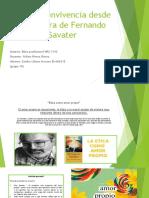 Ética y convivencia desde la postura de Fernando Savater