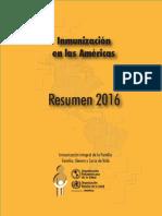 Inmunizacion en las Americas 2016