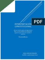 LA INTERPRETACIÓN CONSTITUCIÓN - CANALES HUAMÁN ALVARO