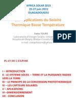 Les Applications Du Solaire Thermique Ba