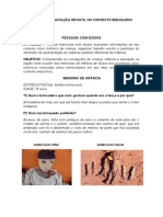 EDUCAÇÃO INFANTIL NO CONTEXTO BRASILEIRO