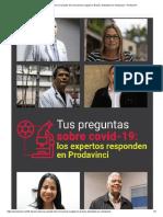 5 Claves Sobre La Variante Del Coronavirus Surgida en Brasil y Detectada en Venezuela – Prodavinci