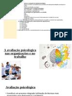 AVALIAÇÃO PSICOLÓGICA  aula 8 e 9