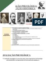 AVALIAÇÃO PSICOLÓGICA  EVOLUÇÃO HISTÓRICA AULA 1