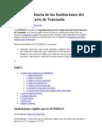 Superintendencia- Instituciones del Sector Bancario de Venezuela
