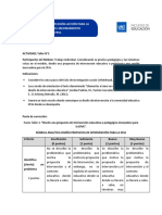 Módulo 3 Actividad N°3 Diseño intervención educativa