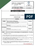 Controle 1 . 1 S2 PC 1bac FR (Www.AdrarPhysic.Fr)