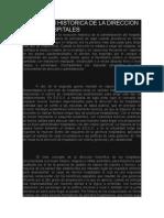 EVOLUCION HISTORICA DE LA DIRECCION DE LOS HOSPITALES
