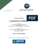 Architecture et Politique2012