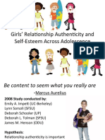 Girls' Relationship Authenticity and Self-Esteem Across Adolescence