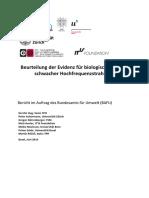 Beurteilung Der Evidenzfuerbiologischeeffekteschwacherhochfreque