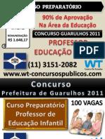 Concurso Professor Guarulhos 2011 - Curso Preparatório