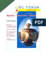A.M.O.R.C. - Rosenkreuzer - Zeitschrift Für Mystik-Esoterik- Kunst - 10.2001