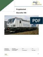 Projektarbeit Zur BR 193
