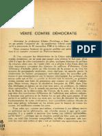 Perelman 23 - Verité Contre Democratie