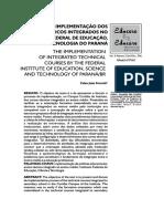 A implementação dos cursos técnicos integrados no IFPA