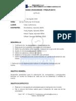ACTA 02-ACTIVIDADES CRONOGRAMA Y PRESUPUESTO