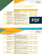 Agenda del curso Práctica profesional escenario 1
