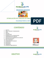 Estimulacion Del Lenguaje en Poblacion Infantil