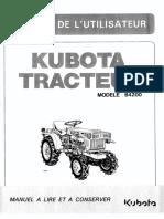 Kubota B4200 Manuel