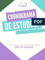Cronograma de Estudos 2021 - Felipe Araujo