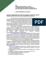 Assunto - Orientações à Rede de Cuidados à Saúde Da Pessoa Comdeficiência Relativas Ao Coronavirus (Covid-19) Ni28