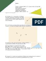 Exercícios sobre lugares geométricos e circunferência 9º