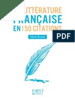 La-litterature Francaise en 150 Citations