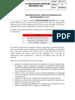 ACTA CONSTITUCION SEGURIDAD VIAL