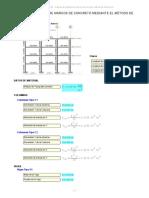 Cálculo de Rigidez de Marcos de Concreto Método de Schultz