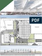 Plans du futur stade d'athlétisme couvert à Limoges (© Jean Guervilly)
