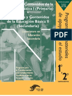 propositos y contenidos de la educación básica (secundaria)