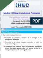 Cours Politique Et Stratégie de l'Entreprise 3 HEC 20120-2021