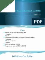 Introduction Au SGBD