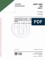 ABNT NBR ISO 14971 Produtos p Saude-Aplicacao gerenciamento de risco