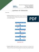 Algoritmo Taller Ordenamiento