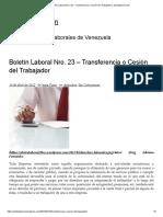Boletín Laboral Nro. 23 – Transferencia o Cesión Del Trabajador _ Alertalaboral.com